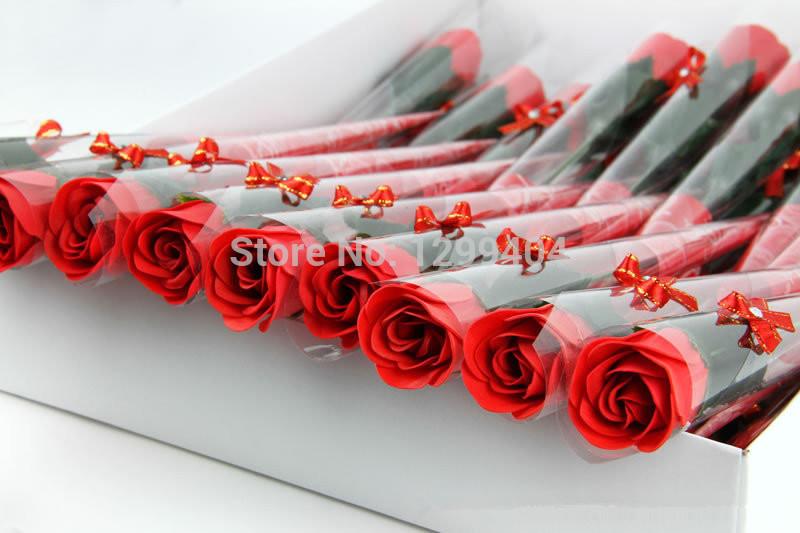 30pcs/lot Free shipping: Soap Rose with ribbon, handmade wedding soap flower, No-fading Hotel/Wedding/Birthday Valantine Gift(China (Mainland))