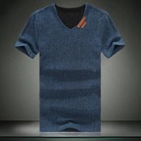 2014 Promotion New Arrival Summer Men Short-sleeve V-neck T-shirt Male Plus Size Basic Personalized Shirt Slim Men's Clothing