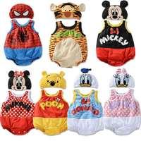 Wholesale 2014  top baby summer sleeveless cartoon children climbing clothes set 21set/lot