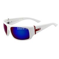 NEW POLARIZED Cycling  Sunglasses Womens Mens Sports Wrap Fishing Golfing Driving Glasses Blue Lens  White Frame