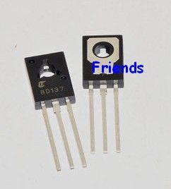 Free shipping 50PCS Power Transistor BD137 NPN 1.5A/60V TO-126 transistor(China (Mainland))