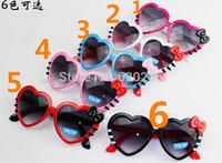 Free shipping baby sunglasses flower decoration girl sunglasses anti-uv child sunglasses for kids 100pcs/lot