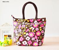 freeshipping 2014 new fashion cute waterproof bag handbag printed three small bag lunch bag lunch box bag women leather handbags