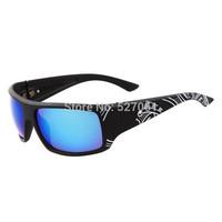 2014 New Fashion Men Women Outdoor Sport Sunglasses  Polarized  Designer Baseball Sunglasses Black +Print Blue Lens