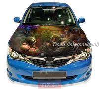 Car universal hood HD Inkjet / Personality car hood sticker  Venom Spiderman