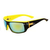 New 2014 Designer Womens Mens Polarized Fishing Golf Hunting Sport Sunglasses Yellow+Black Colorful Lens