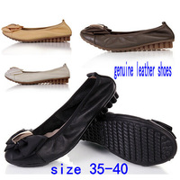 Genuine Leather Slip-on Ballet Flats Female Gommini Flats Loafers Cow Muscle Outsole Women's Casual Flat Shoes Mother Work Shoes