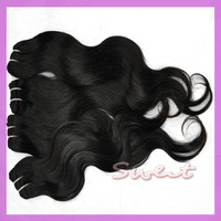 Brazilian Hair Extensions,100% human hair weave,body wave queen hair product,color black and brown,6pcs/lot,DHL free shipping