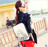 2014 Hot Selling 3D Women's Handbag Bag DIY Cartoon Package VintageBackpack  Free Shipping