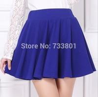 New Pure color skirt Umbrella skirt of tall waist big yards Skirts free shipping
