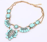 2014 newest Statement Choker Necklace Brand  Vintage Jewelry Flower Bib Multicolor Fashion Necklaces & Pendants Women Collar