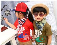 2014 new arrival summer Children 100% cotton top baby girl boy billiards t shirt kid shortsleeve lovely clothing 5pcs/lot