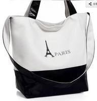 2014 hot women handbag canvas women shoulder bag women clutch women leather messenger bag free shipping