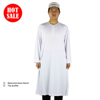 Islamic Arabic men's robe,fashion muslim abaya,crew-neck +Wholesale(20pcs/lot)+free shipping