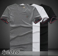 2014 New Summer Mens Short Sleeve V Neck T Shirts Fashion Casual Shirt Brand Designer Cotton Slim Fit Clothing Mant-shirts M-3XL