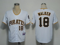 Cheap Stitched MLB Men's Jerseys Pittsburgh Pirates 18 Walker Jerseys.Baseball Jerseys Free Shipping Wholesale From China M-3XL