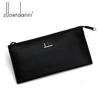 New Ultrathin male day clutch bag cowhide genuine leather wallet men purse cowhide mobile phone zipper man day clutch bag
