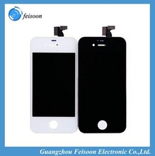 LCD with touch screen digitizer For iphone 4S Mobile Phone LCDs white or black color Assembly Free shipping by DHL EMS 10pcs/lot