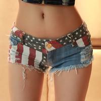 M&C 2014 Sexy Girls Mini Jeans Shorts Hot Pants Trousers Denim Low Waist hot pants leggings skort