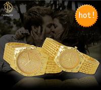 Full Steel Watches Women dress Rhinestone Analog wristwatches men Casual watch 2014 Ladies Unisex Quartz watches lovers gift