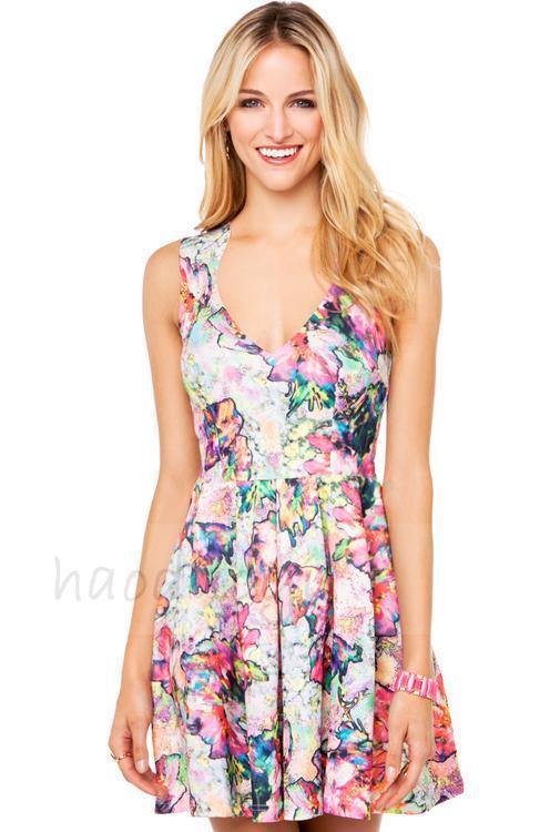 Женское платье Brand new V haoduoyi женское платье new brand v