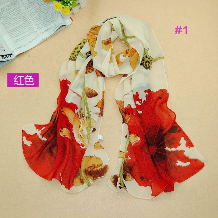 5pcs/lot women fashion lotus leaves scarf/shawls plain chiffon silk head hijab popular scarves/shawls(China (Mainland))