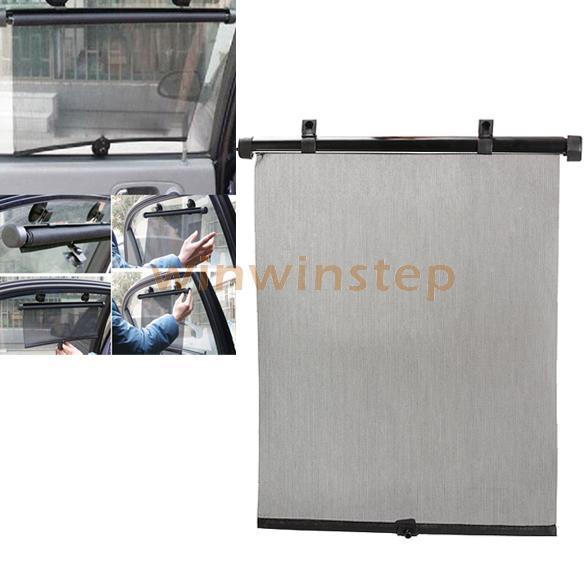 BS#S 2PCS Universal Car Curtain Roller Blind Auto Window Sunshade Mesh Black(China (Mainland))