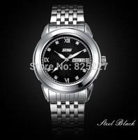 2014 new Style Men's quartz arround watch top luxury brand stainless steel Strap Men's Sport, Men watches