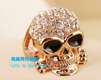 Fashion cool skull ring Korean decorative rhinestones party ring