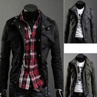 L0673, free shipping hot sale Autumn men coat, causal men four pocket jacket, stand collar large size men jacekt, M,XXXXXL