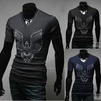 Free Shipping Hot Sales 2014 mens t shirt Men's Fashion Short Sleeve Tees T Shirts,V-Neck, Good Quality, Drop Shipping,M-XXL
