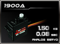 POWER HD HD-1900A,DC Motor Analog 9G Servo,Plastic Gear,Torque 1.5KG,speed 0.08 Sec,Compatible FUTABA JR SAVOX