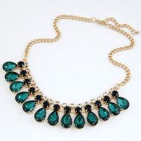 Fashion Jewelry Luxury Unique Graceful Colorful Shiny Colorful Rhinestone Choker Necklace For bijoux Women