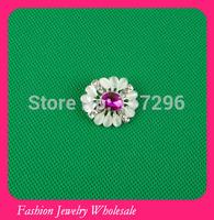 Free Shipping Wholeasale Fashion Pink Pearl Rhinestone Brooch In Bulk 50pcs/lot