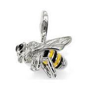 European Стиль Модный 925 silver bee pendant charms (2.5x2.3cm) fit charm bracelets ...