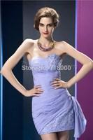 2014 Elegant  Sweetheart Ruffles Chiffon Short Homecoming Dresses Mini Party Dresses Prom Gowns Zipper Custom Made SB010
