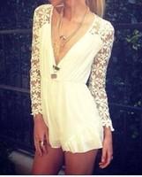 2014 New Women Summer Lovegirl Lace Playsuit Chiffon Jumpsuit