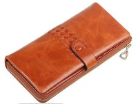 Free Shipping! Super Quality Women Top Genuine Leather Purse Wallet Lady Long Handbag Clutch  #011, 5 Colors