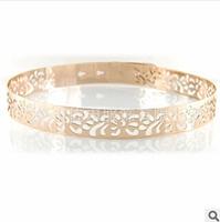 2014 Women's Belts Full Metal Hollow Out Carving Belt Gold Silver Female Belts High Quality Designer Belt Buckle Ceinture Women