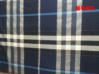 Pf16 Checked Cotton herringbone twill fabric cloth textile big tartan purple blue green red color retail or wholesale