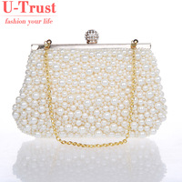 New Design High quality pearls beaded evening bags,women fashion handbags,Exquisite vintage handmade clutches bags W-H-0013