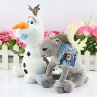 2Pcs/lot 20CM Olaf Snowman Plush Toy Sven Milu Deer Toys Princess Elsa plush Anna Plush Doll Toys Free Shipping