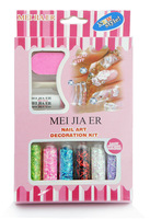 6PCS/lot Fashion Caviar Nail Art set New 6 Colors threadlet Manicures or Pedicures Nail Art Decoration With glub (XY-N038D)