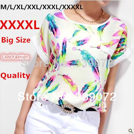 Женские блузки и Рубашки Cool Fashion Florial XXXXL Blusa TC0001 женские блузки и рубашки romantic beach blusa femininas2015 sh022