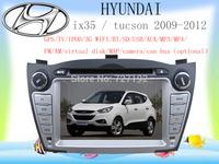 Free Shipping Car DVD for Hyundai ix35 TUCSON 2009-2012 with Russian MEMU 3G WIFI GPS radio BT TV iPod AM/FM 4gb map camera