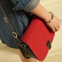New 2014 High Quality Vintage Panelled women's Messenger Bags Faux Suede Shoulder cross-body bag casual Soild Handbag bolsas