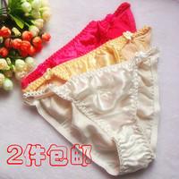 Fashion sexy 2 mulberry silk female pure silk panties female thong t briefs