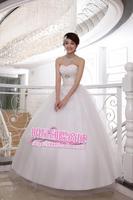 Beading straps wedding paillette full dress sweet formal dress married the bride tube top women's wedding dress