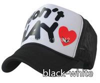 20pcs/lot Free Shipping I don't play letter truck cap Aquiline breathable mesh hat Snapbacks caps, 55--60cm 2 color