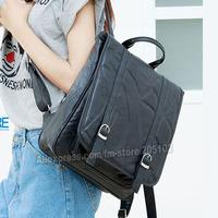 Sales! BackPacks sheep skin genuine leather Black Shoulder bag for women fashion school bag totes satchel goatskin Chest Bags